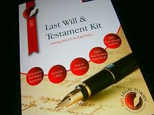 LAST WILL AND TESTAMENT KIT, NEW 2016 DELUXE Edition, WITH FREE LEGAL HELPLINE.