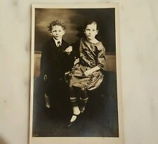 Antique Picture Postcard of A Little Brother & Sister