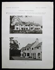 DALBEATHIE HOUSE DUNKELD PERTH & KINROSS MILLS & SHEPHERD ARCHITECT 1pp 1922