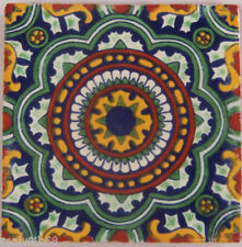 """90 Decorated Tile Handpainted 4x4"""" Mexican Tiles C228"""