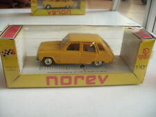 Norev Renault 6 in Yellow on 1:43 in box