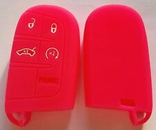 PINK SILICONE KEY COVER for JEEP DODGE CHRYSLER 300C CHARGER GRAND CHEROKEE