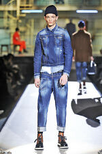 DSQUARED2 2014 RUNWAY COLLECTION UNIQUE DENIM JACKET ITALY SIZE 48 / S-M