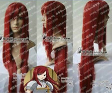 FAIRY TAIL ERZA Dark Red cosplay straight full wig/wigs long 100CM O:11