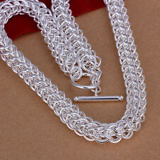 hot! wholesale Sterling solid silver fashion jewelry Chain Necklace XXSN139