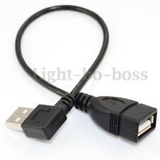 25CM USB A FEMMINILE A MASCHILE ANGOLATO SINISTRO ADATTATORE ALLUGAMENTO CAVO