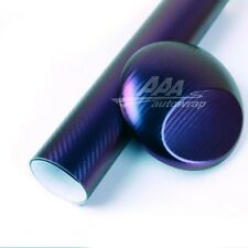 "12""x60"" Premium Chameleon Purple Blue Carbon Fiber Car Vinyl Wrap Sticker Decal"