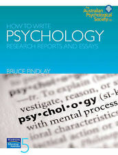 How to Write Psychology Research Reports and Essays by Bruce M. Findlay (Paperb…