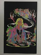 Blacklight Poster Pin-up Print Riding Easy Biker Make Love Not War Double Sided
