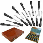 12PC PRO WOOD CHISEL CARVING CRV PROFESSIONAL CARPENTERS TOOL SET HAND IN CASE