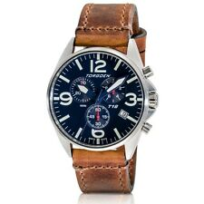 New Torgoen Swiss T16 Mens Chronograph Blue Face 45mm Pilot Wrist Watch T16BL45V