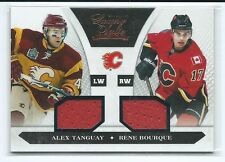 2010-11 Panini Luxury Suite Alex Tanguay Rene Bourque DUAL GU JERSEY 377/599