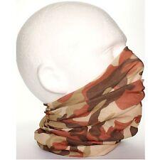 Mens Tube Snood Scarf Brown Camouflage Biker Mask for under Helmet Ski Face