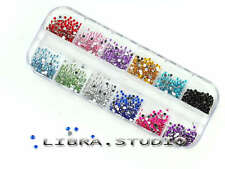 1200Pcs 3D Bijoux Ongles Décor Glitter Strass Gel UV Tips Nail Art Manucure DIY