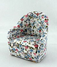 Dolls House Miniature Lounge Furniture 1:12 Scale Cosy Chintz Armchair Arm Chair