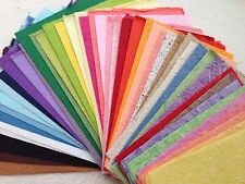 VALUE PACK 50 SHEETS of handmade THICK SAA MULBERRY PAPER - Crafts, scrapbooking