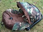 baby military print infant car seat cover canopy cover fit most infant car seat
