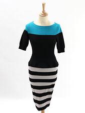 BNWT Karen Millen Womens Multicolour Peplum Knit Dress KP162 Size 1 (UK 8)
