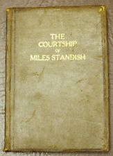 The Courtship of Miles Standish Henry W Longfellow Poetry Leather book Pilgrims
