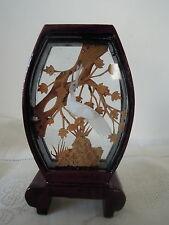 Escultura De Corcho Chino Tallado A Mano En Forma De Laca Marco Tapa Plana