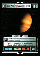 STAR TREK CCG Q CONTINUUM RARE CARD INVESTIGATE LEGEND