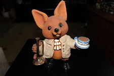 Vintage Fox Hunting Figurine Stock Tie Buffs Bugle Horn Stirrup Cup  - MR FOX