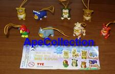 RARE Set 8 Figure WINNIE Pooh WILD COLLECTION Mini Winnies TOMY ITALY Figures