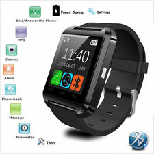 Bluetooth Smart Wrist Watch Phone Mate For IOS Android iPhone Samsung HTC Black