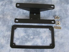HARLEY LAY- DOWN number plate mount / bracket and plate frame / surround.