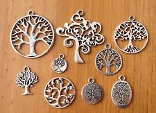10x mixed designs tibetan silver tree of life charms pendentifs (TSC54)