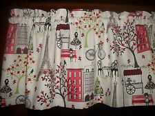 Paris Eiffel Tower Bicycle Food Cart Street Lamp waverly fabric curtain Valance