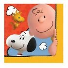 "Snoopy Peanut Birthday Party Lunch Napkins, Pack of 16, 7"" Square"