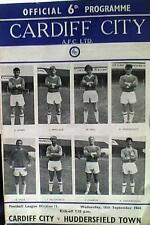 CARDIFF CITY v HUDDERSFIELD TOWN 64-65 2nd DIVISION MATCH