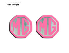 MG ZS ZR MGF LE500 MK1 Compatible Front & Rear Insert Badge 59mm Pink/Chrome