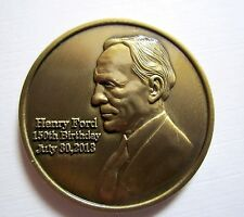 Henry Ford 150th Commemorative Coin Made in the USA Ford Licensed and Approved