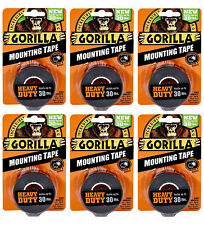 Gorilla Mounting Tape 6055001 HEAVY DUTY, Holds Up to 30LB - 6 PACK!