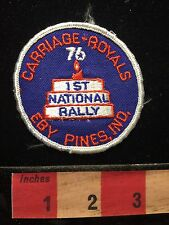 1976 CARRIAGE ROYAL EBY PINES INDIANA PATCH ~ 1st National Rally RV CAMPER  68DD