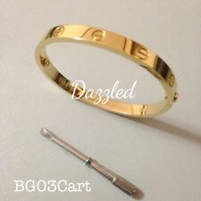 Love Bangle Stainless Steel with Screw - BG03Cart