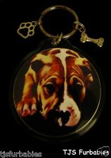 Pitbull Dog Keychain Key chain  Double Sided  Great Pet Lovers Gift