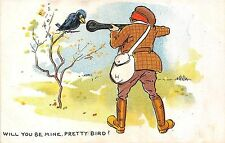 POSTCARD   COMIC     HUNTING   Related   Will you be mine  pretty  Bird