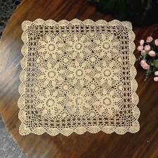 New Cotton Tablecloth Vintage Crochet Table Cover Square Cloth Topper Home Decor