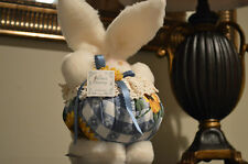 Plush Stuffed White Bunny Rabbit with lace and sunflower's Sachet Bunny