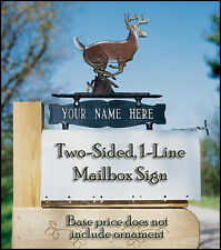 Whitehall 2-Sided 1-Line Address Sign Marker Personalized Plaque in 17 Colors