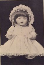 """UNCUT BELL DOLL Clothes PATTERN """" HILDA"""" 13"""" Doll Mold #2392 SEALED 1983 a NOS"""