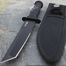 "7.5"" MILITARY TACTICAL TANTO COMBAT KNIFE w/ SHEATH Survival Hunting Fixed Blade"