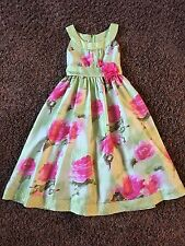 BONNIE JEAN Girls Pink Floral ***EASTER***Dress Size 7 *BEAUTIFUL*