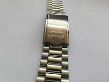 NEW SEIKO GENUINE S/STEEL GENTS STRAP,18MM/8MM,CURVED ENDS( REF# SS-8 )