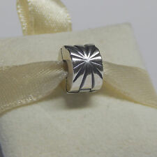 New Authentic Pandora 790210 Sterling Silver Sunburst Clip Box Included