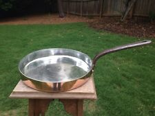 "Antique Benham Froud Copper Crepe Saute Pan 11.125"" *NEW Tin Lined  W/Orb & Cros"