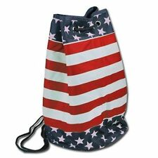 Backpack Draw String Bag Tote Red Blue White Star & Stripes USA Flag NEW